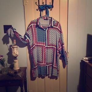 Sassy and silky shirt dress